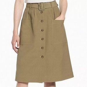 New Nordstrom Signature Skirt 00 Olive Green